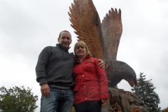 brian-and-lesley-with-stobo-eagle